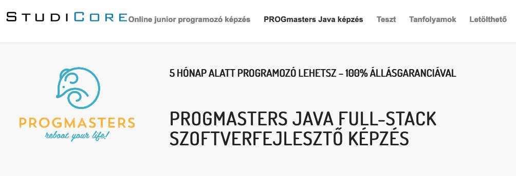 progmasters java képzés